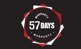 57 days warranty grunge illustration design. Stamp badge icon stock illustration