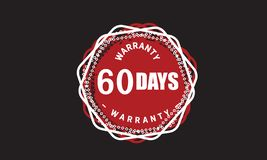 60 days warranty grunge illustration design. Stamp badge icon royalty free illustration