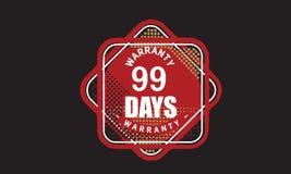 100 days warranty grunge illustration design. Stamp badge icon stock illustration
