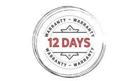 12 days warranty icon vintage. Rubber stamp guarantee Stock Photos