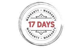 17 days warranty icon vintage. Rubber stamp guarantee Royalty Free Stock Photos