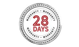 28 days warranty icon vintage. Rubber stamp guarantee Stock Photography
