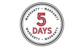 5 days warranty icon vintage. Rubber stamp guarantee Stock Photos