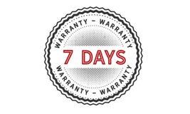 7 days warranty icon vintage. Rubber stamp guarantee Stock Photo