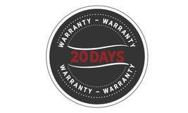 20 days warranty icon vintage. Rubber stamp guarantee Stock Photos