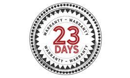 23 days warranty icon vintage. Rubber stamp guarantee Stock Photo