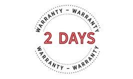 2 days warranty icon vintage. Rubber stamp guarantee Stock Photo