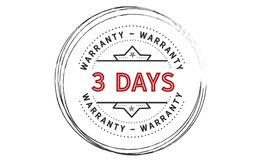 3 days warranty icon vintage. Rubber stamp guarantee Royalty Free Stock Photography