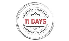 11 days warranty icon vintage. Rubber stamp guarantee Stock Photo