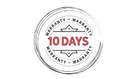 10 days warranty icon vintage. Rubber stamp guarantee Stock Image