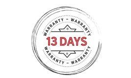 13 days warranty icon vintage. Rubber stamp guarantee Royalty Free Stock Photos