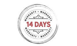 14 days warranty icon vintage. Rubber stamp guarantee Royalty Free Illustration