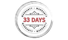 33 days warranty icon vintage. Rubber stamp guarantee Royalty Free Stock Image