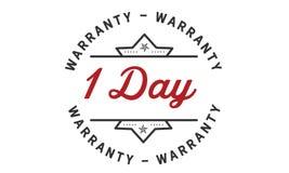 1 days warranty icon vintage. Rubber stamp guarantee Stock Photo