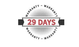 29 days warranty icon vintage. Rubber stamp guarantee Royalty Free Stock Photography