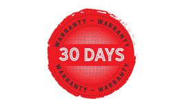 30 days warranty icon vintage. Rubber stamp guarantee Royalty Free Stock Image