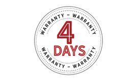 4 days warranty icon vintage. Rubber stamp guarantee Stock Photography