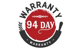 94 days warranty icon vintage. Rubber stamp guarantee Royalty Free Stock Photography