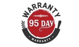 95 days warranty icon vintage. Rubber stamp guarantee Royalty Free Stock Photos