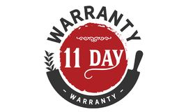 11 days warranty icon vintage. Rubber stamp guarantee Royalty Free Stock Image