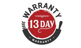 13 days warranty icon vintage. Rubber stamp guarantee Royalty Free Stock Images