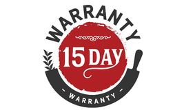 15 days warranty icon vintage. Rubber stamp guarantee Stock Photography