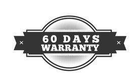 60 days warranty illustration design. Stamp badge icon stock illustration