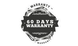 60 days warranty illustration design. Stamp badge icon royalty free illustration
