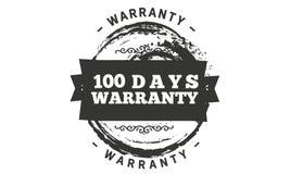 100 days warranty illustration design. Stamp badge icon royalty free illustration