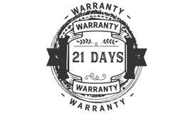 21 days warranty illustration design stamp badge icon. 21 days warranty illustration design stamp badge illustration icon royalty free illustration