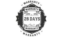 28 days warranty illustration design stamp badge icon. 28 days warranty illustration design stamp badge illustration icon royalty free illustration