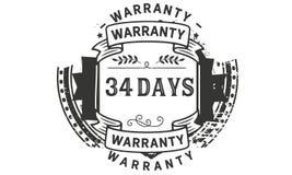 34 days warranty illustration design stamp badge icon. 34 days warranty illustration design stamp badge illustration icon vector illustration