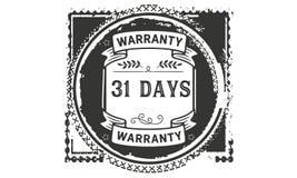 31 days warranty illustration design stamp badge icon. 31 days warranty illustration design stamp badge illustration icon vector illustration