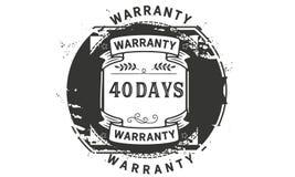 40 days warranty illustration design stamp badge icon. 40 days warranty illustration design stamp badge illustration icon stock illustration
