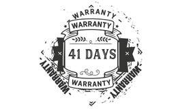 41 days warranty illustration design stamp badge icon. 41 days warranty illustration design stamp badge illustration icon royalty free illustration