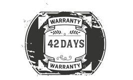 42 days warranty illustration design stamp badge icon. 42 days warranty illustration design stamp badge illustration icon royalty free illustration