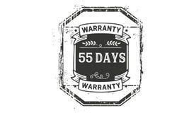 55 days warranty illustration design stamp badge icon. 55 days warranty illustration design stamp badge illustration icon royalty free illustration