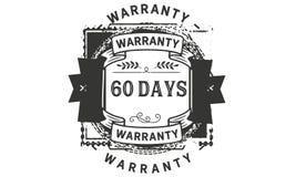 60 days warranty illustration design stamp badge icon. 60 days warranty illustration design stamp badge illustration icon royalty free illustration