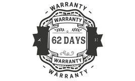 62 days warranty illustration design stamp badge icon. 62 days warranty illustration design stamp badge illustration icon royalty free illustration