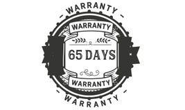 65 days warranty illustration design stamp badge icon. 65 days warranty illustration design stamp badge illustration icon stock illustration