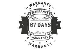 67 days warranty illustration design stamp badge icon. 67 days warranty illustration design stamp badge illustration icon vector illustration