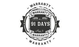 91 days warranty illustration design stamp badge icon. 91 days warranty illustration design stamp badge illustration icon royalty free illustration
