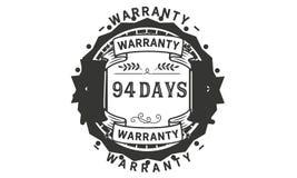 94 days warranty illustration design stamp badge icon. 94 days warranty illustration design stamp badge illustration icon stock illustration