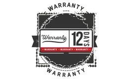 12 days warranty illustration design stamp badge icon. 12 days warranty illustration design stamp badge illustration icon royalty free illustration
