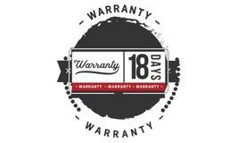 18 days warranty illustration design stamp badge icon. 18 days warranty illustration design stamp badge illustration icon royalty free illustration