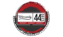 44 days warranty illustration design stamp badge icon. 44 days warranty illustration design stamp badge illustration icon stock illustration