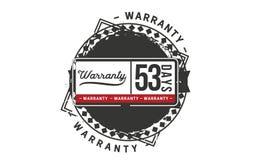 53 days warranty illustration design stamp badge icon. 53 days warranty illustration design stamp badge illustration icon royalty free illustration
