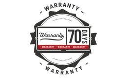 70 days warranty illustration design stamp badge icon. 70 days warranty illustration design stamp badge illustration icon stock illustration