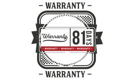 81 days warranty illustration design stamp badge icon. 81 days warranty illustration design stamp badge illustration icon vector illustration