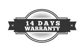 14 days warranty illustration design. Stamp badge icon vector illustration